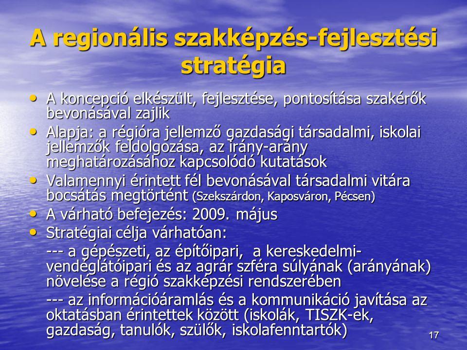 A regionális szakképzés-fejlesztési stratégia