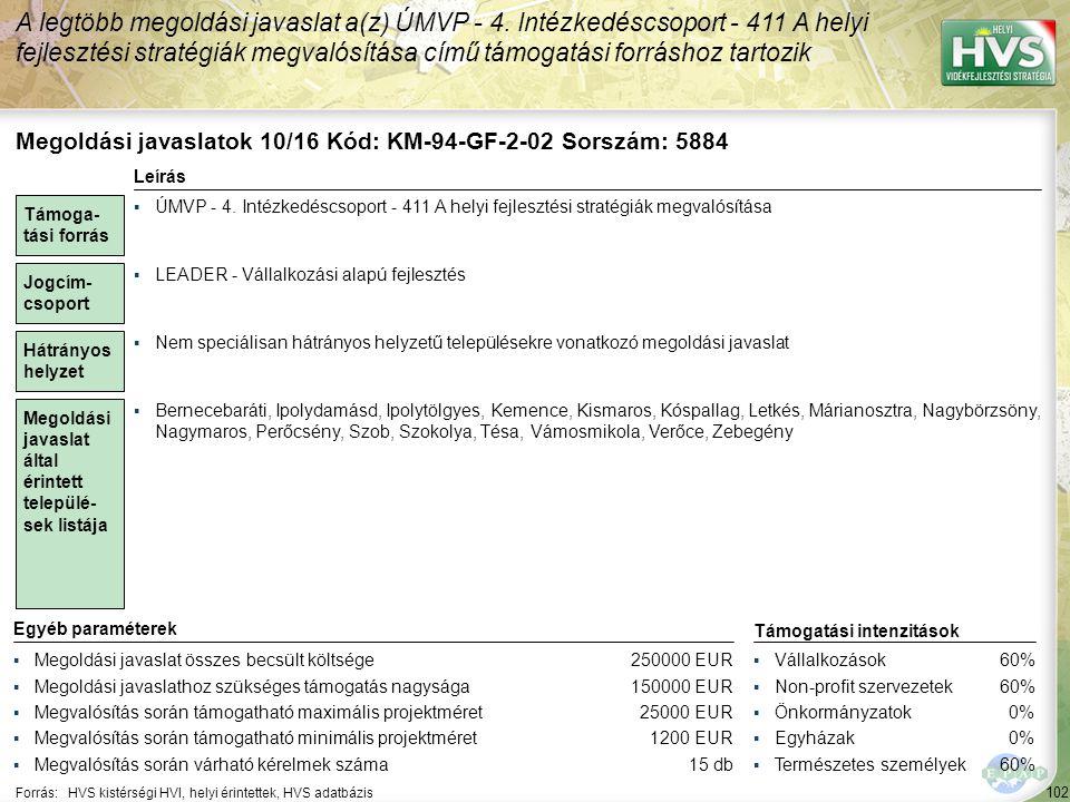 Megoldási javaslatok 11/16 Kód: KM-94-GF-5-01 Sorszám: 5888