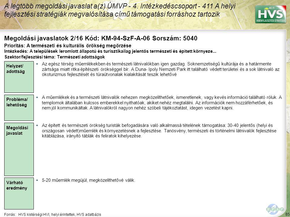 Megoldási javaslatok 2/16 Kód: KM-94-SzF-A-06 Sorszám: 5040