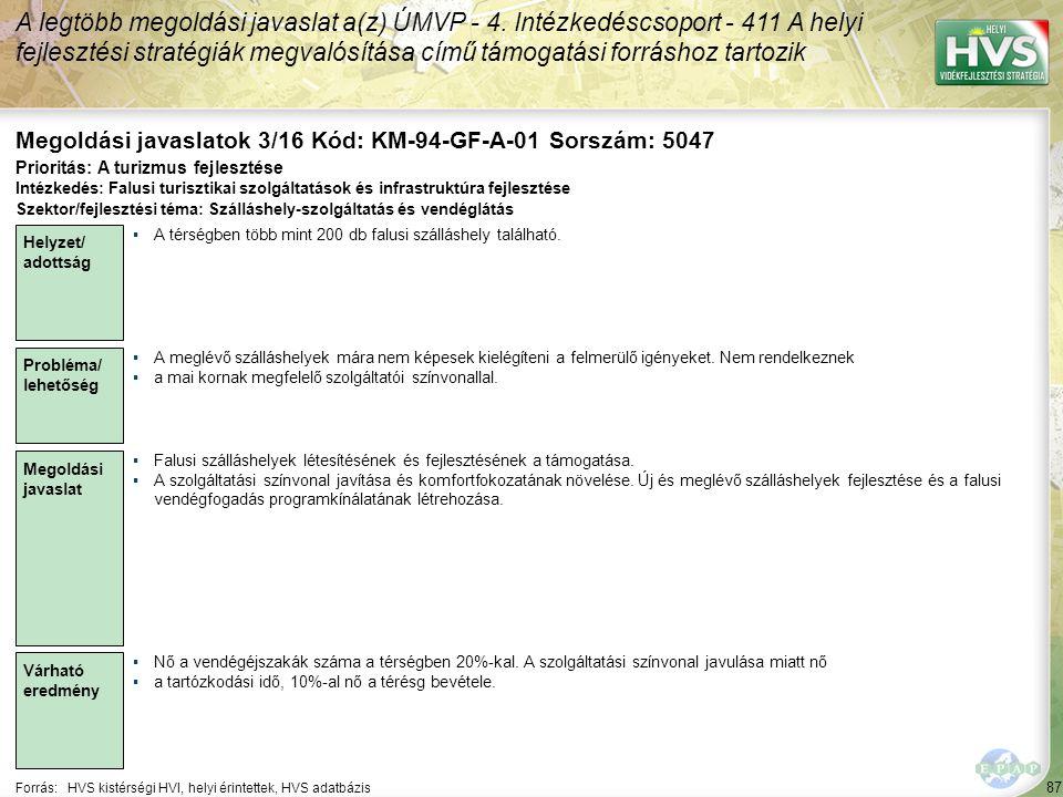 Megoldási javaslatok 3/16 Kód: KM-94-GF-A-01 Sorszám: 5047