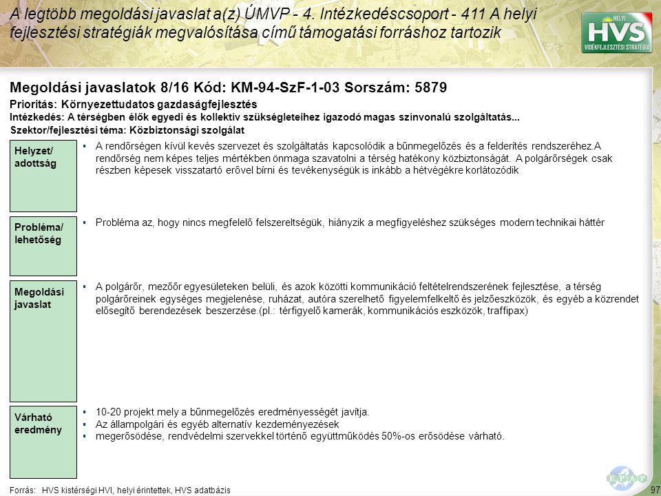 Megoldási javaslatok 8/16 Kód: KM-94-SzF-1-03 Sorszám: 5879