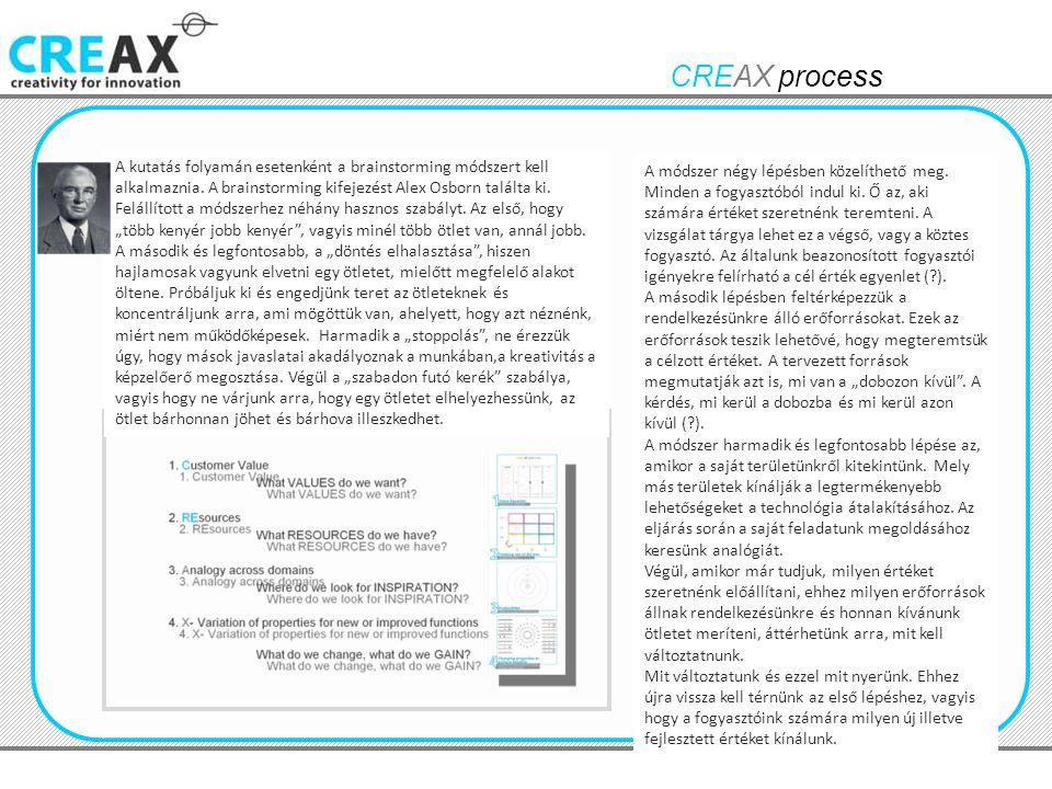 CREAX process