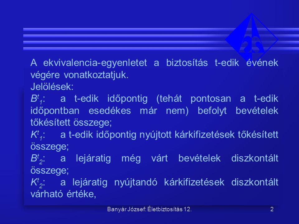 Banyár József: Életbiztosítás 12.