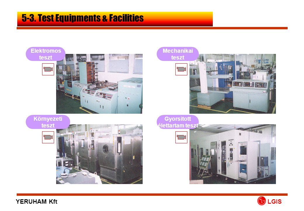 5-3. Test Equipments & Facilities