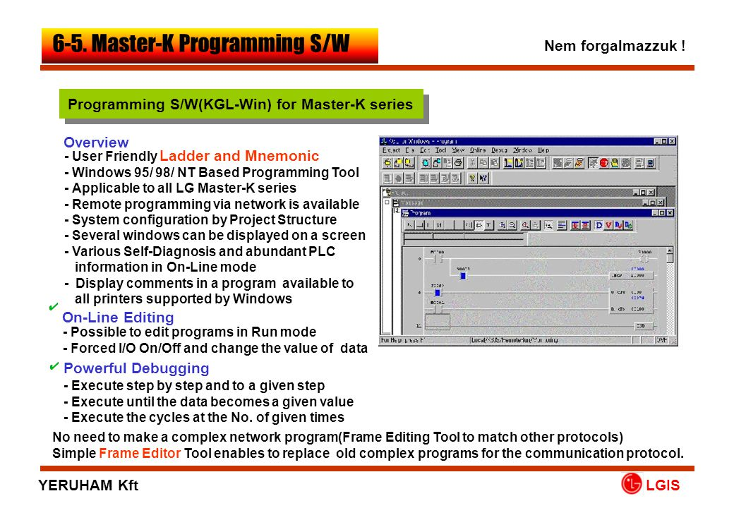 Programming S/W(KGL-Win) for Master-K series