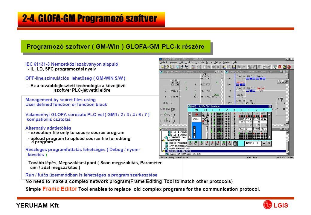 Programozó szoftver ( GM-Win ) GLOFA-GM PLC-k részére