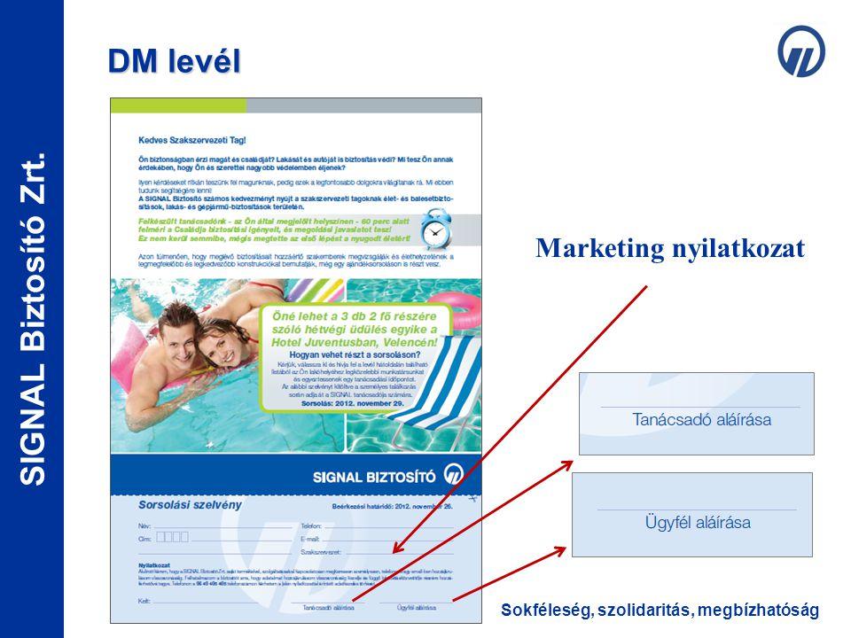 Marketing nyilatkozat