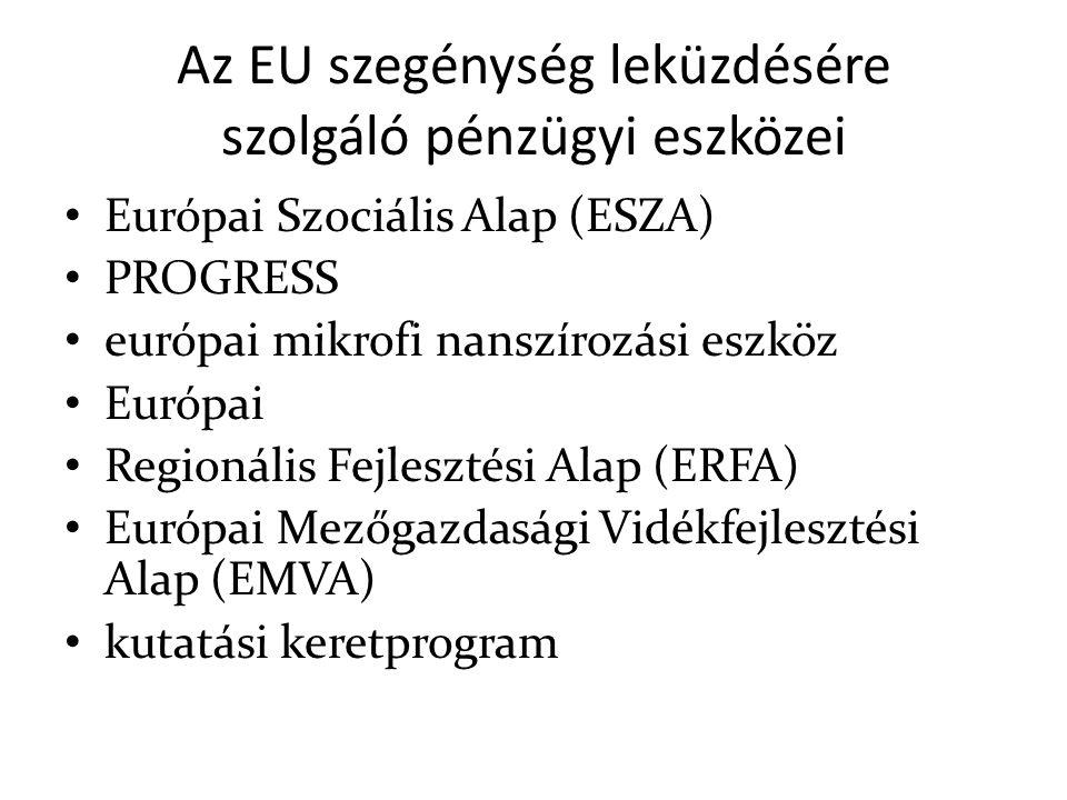 Az EU szegénység leküzdésére szolgáló pénzügyi eszközei