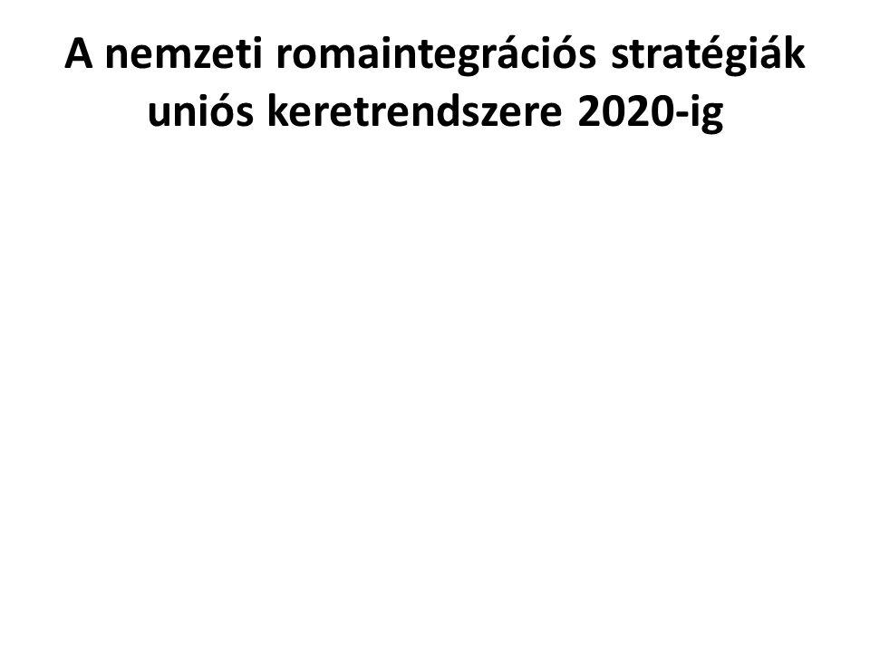 A nemzeti romaintegrációs stratégiák uniós keretrendszere 2020-ig