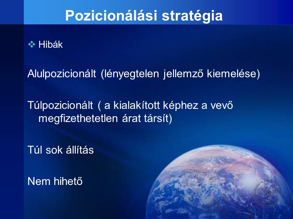 Pozicionálási stratégia