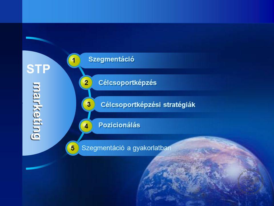 STP marketing 1 Szegmentáció 2 Célcsoportképzés 3