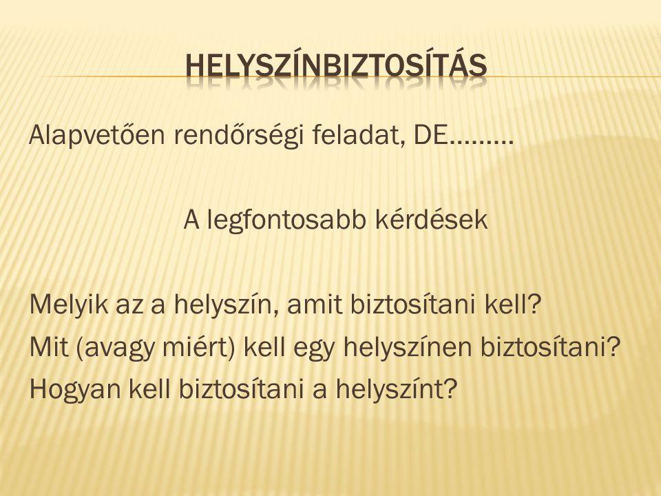 HELYSZÍNBIZTOSÍTÁS