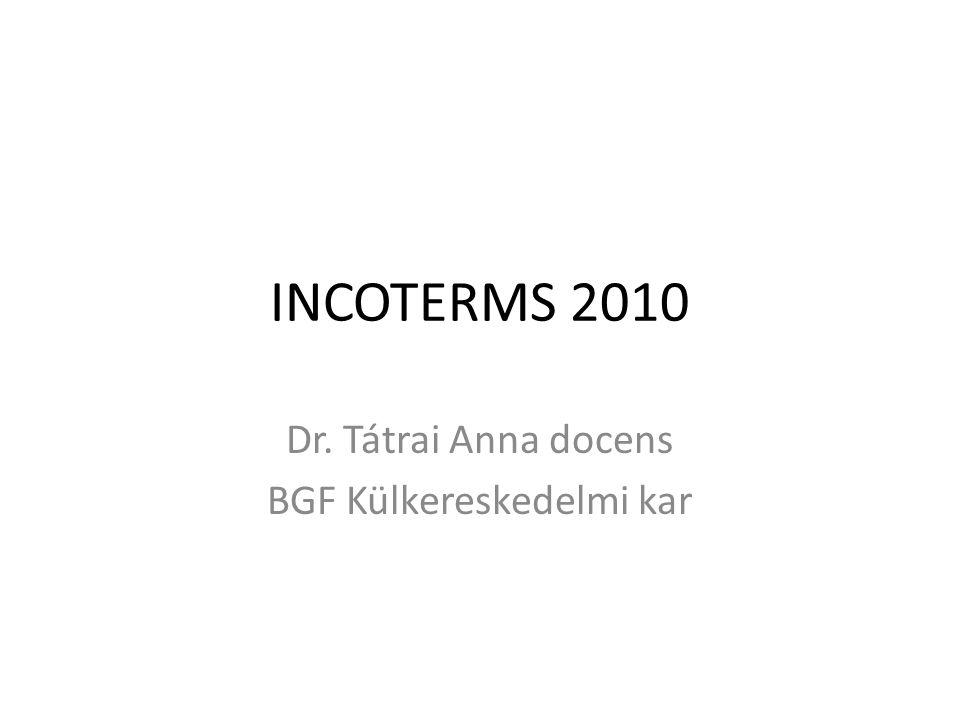 Dr. Tátrai Anna docens BGF Külkereskedelmi kar