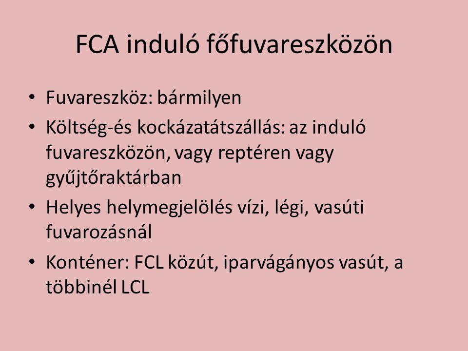 FCA induló főfuvareszközön