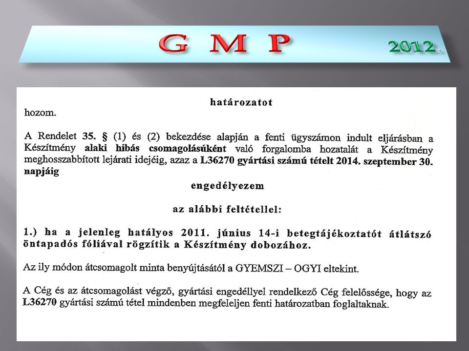 G M P 2012.