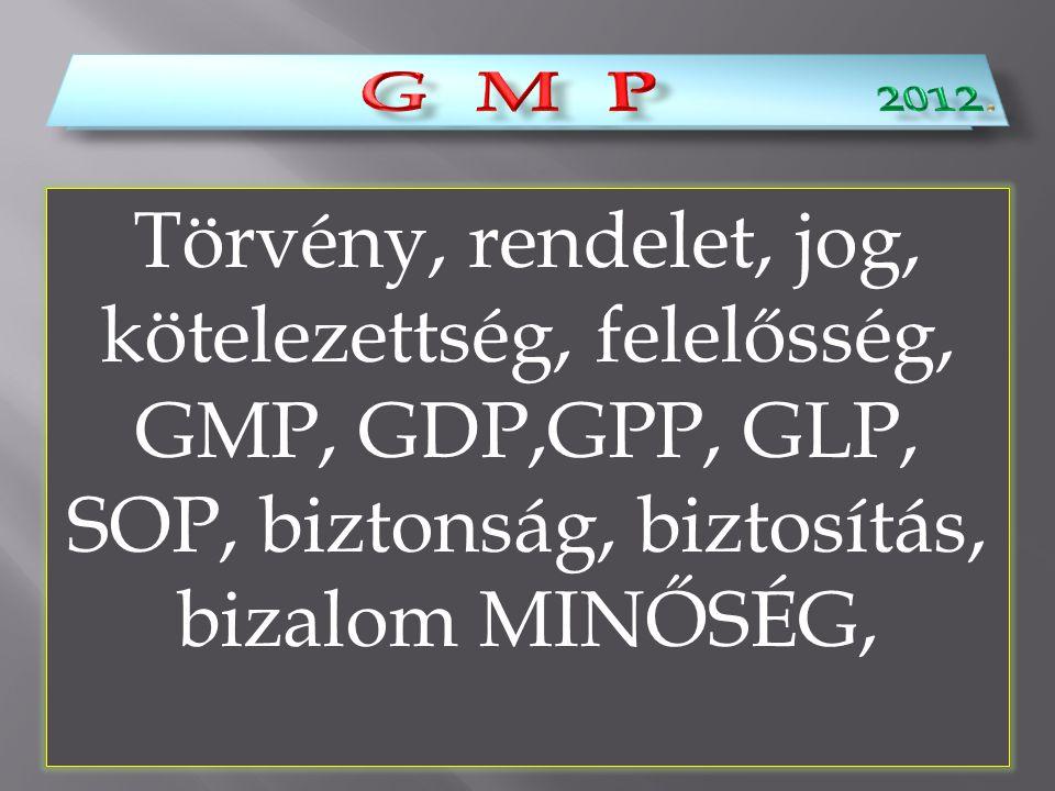 G M P 2012. G M P.