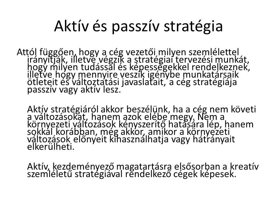 Aktív és passzív stratégia