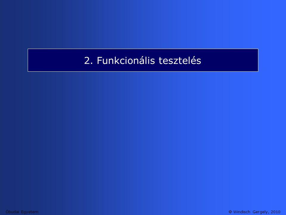 2. Funkcionális tesztelés
