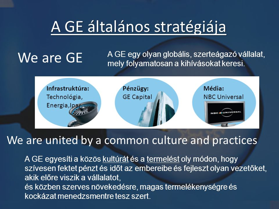 A GE általános stratégiája