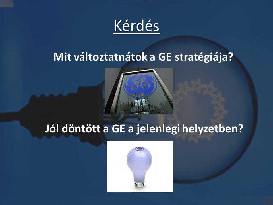 Mit változtatnátok a GE stratégiája