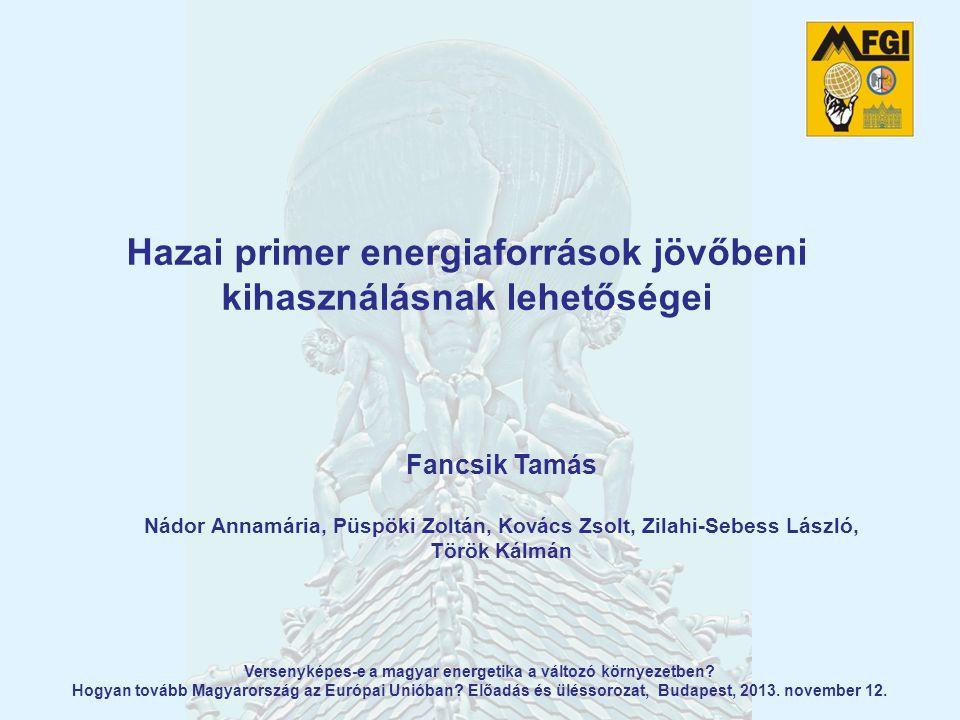 Hazai primer energiaforrások jövőbeni kihasználásnak lehetőségei