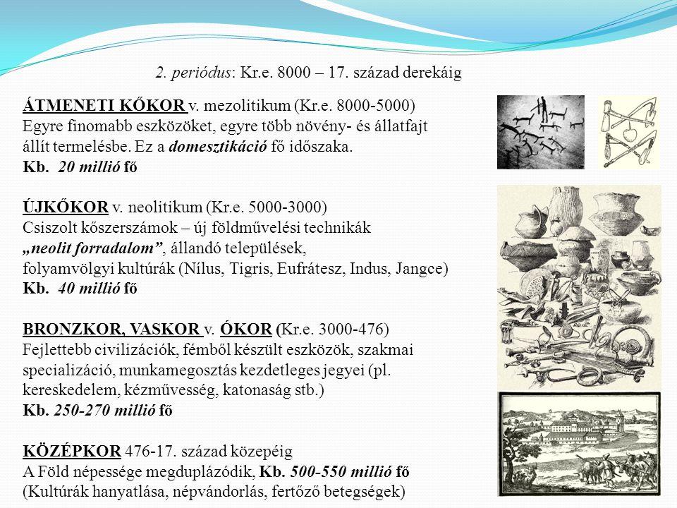 2. periódus: Kr.e. 8000 – 17. század derekáig
