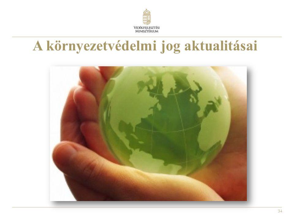 A környezetvédelmi jog aktualitásai
