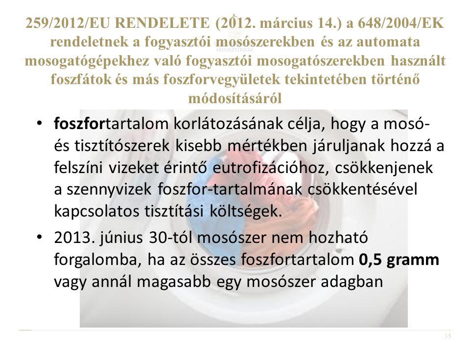 259/2012/EU RENDELETE (2012. március 14