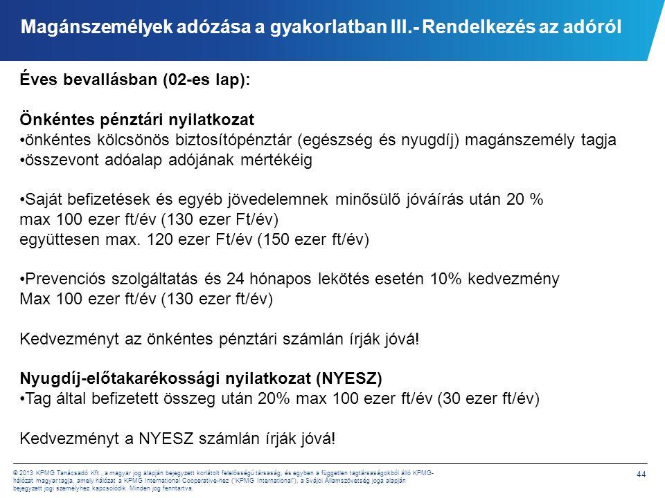 Magánszemélyek adózása a gyakorlatban IV. -