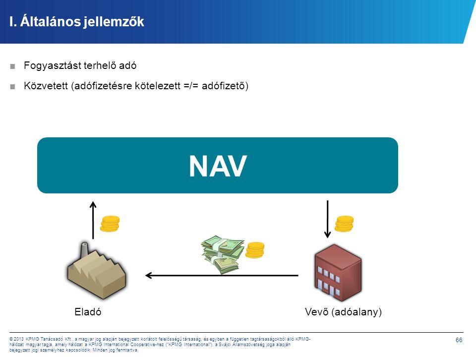 NAV I. Általános jellemzők Többfázisú Hozzáadott érték alapú Fogyasztó