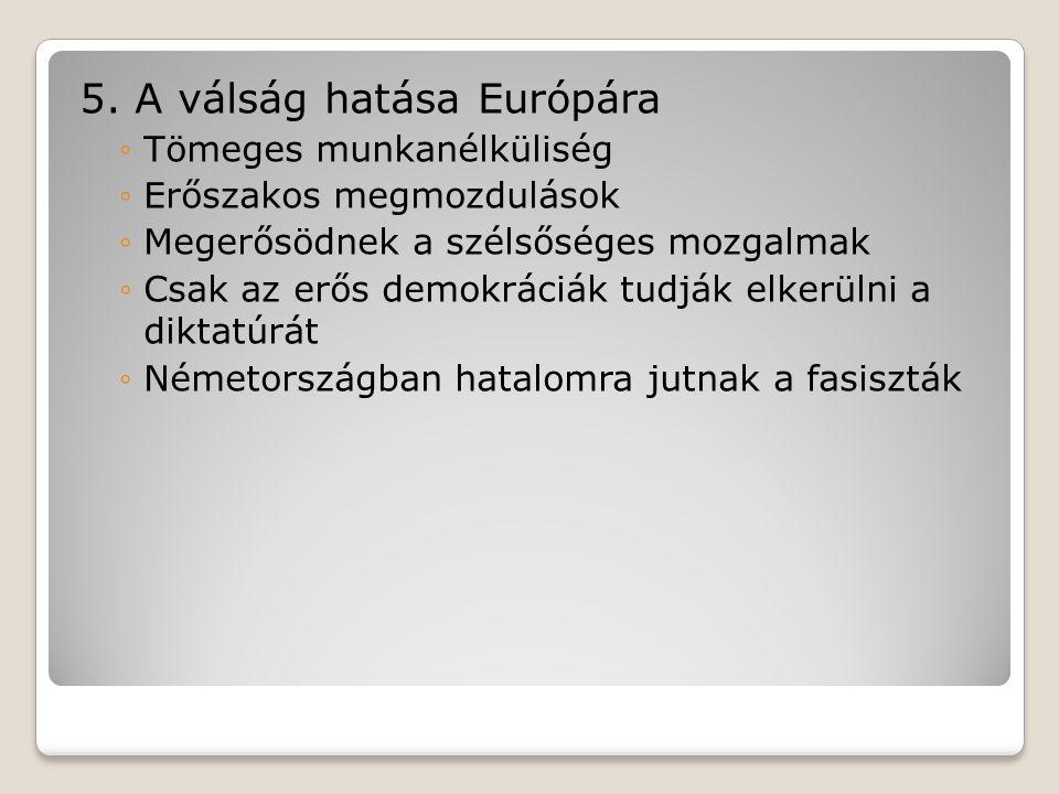 5. A válság hatása Európára
