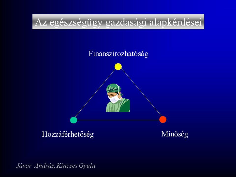 Az egészségügy gazdasági alapkérdései