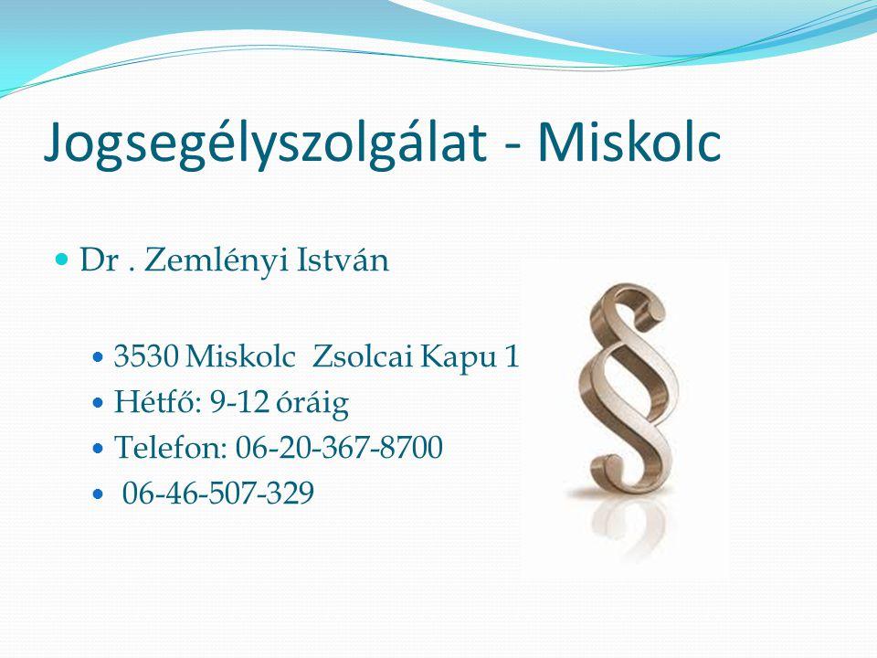 Jogsegélyszolgálat - Miskolc