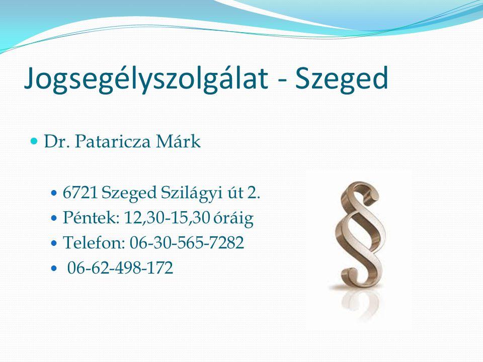 Jogsegélyszolgálat - Szeged