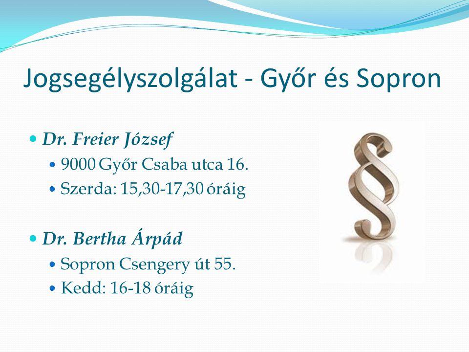 Jogsegélyszolgálat - Győr és Sopron