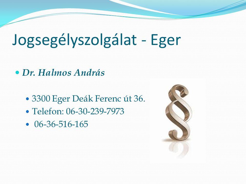 Jogsegélyszolgálat - Eger