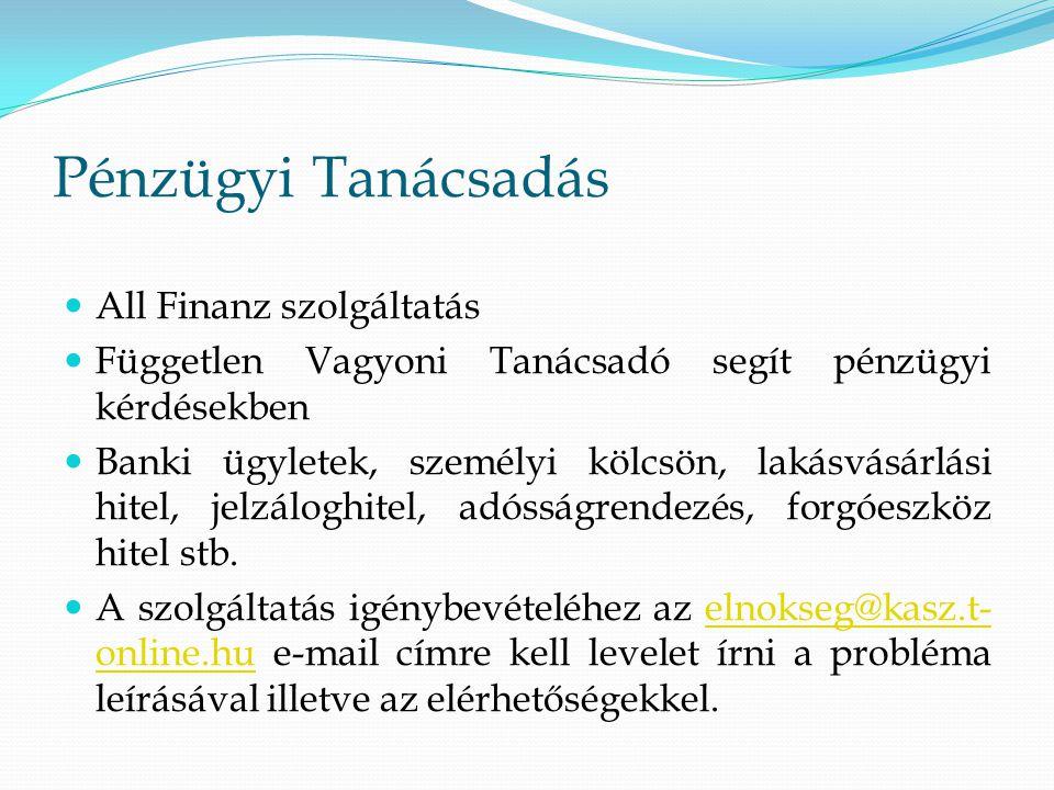 Pénzügyi Tanácsadás All Finanz szolgáltatás