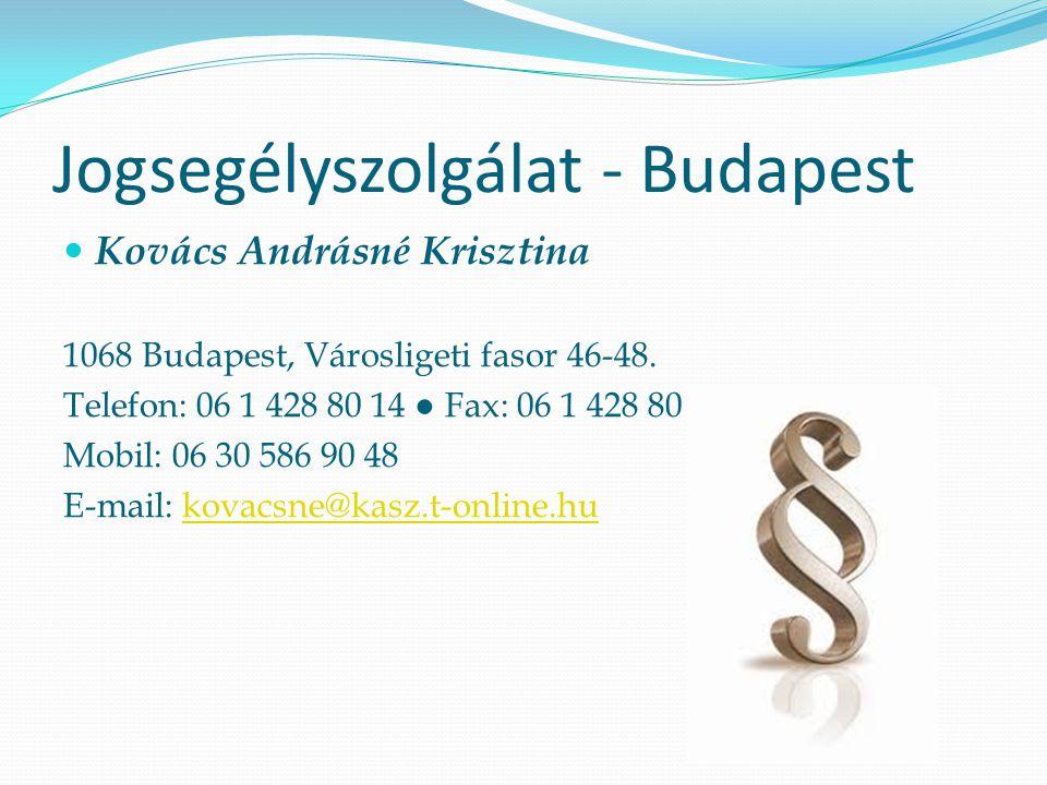 Jogsegélyszolgálat - Budapest