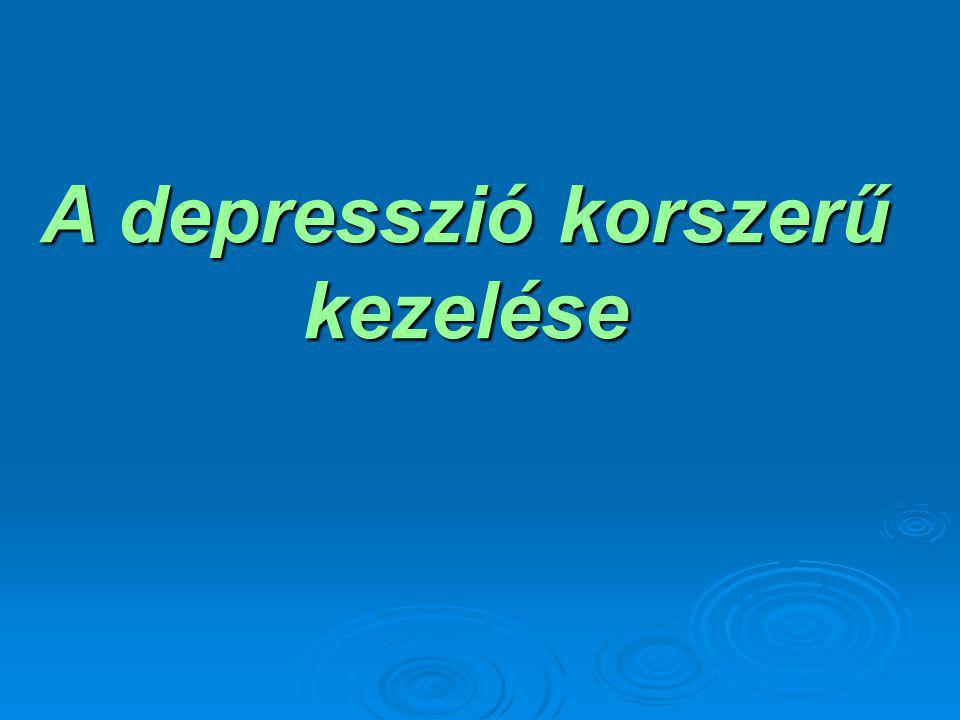 A depresszió korszerű kezelése