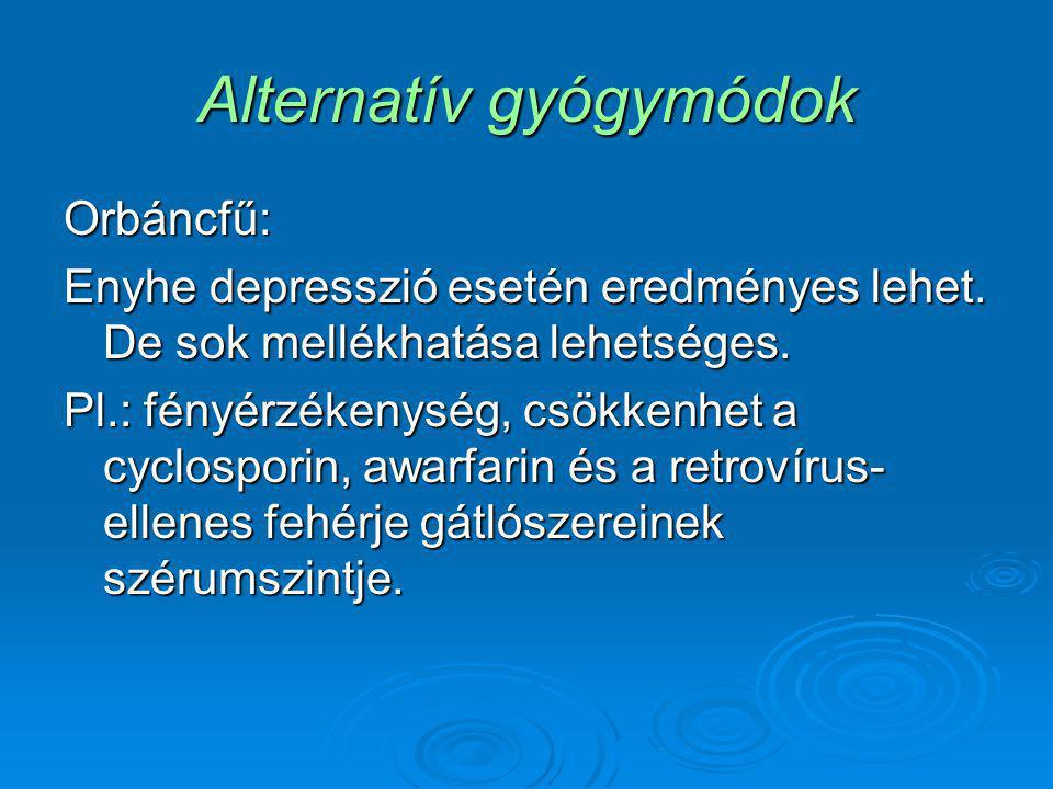 Alternatív gyógymódok