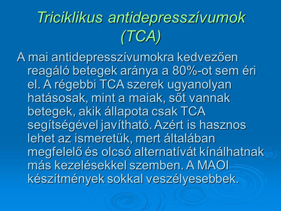 Triciklikus antidepresszívumok (TCA)