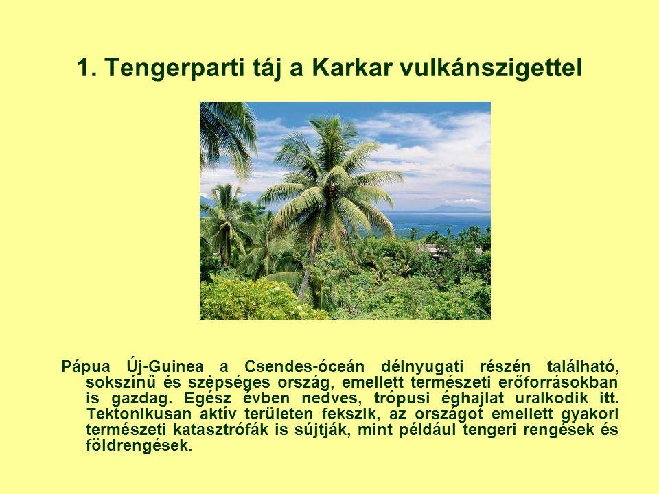1. Tengerparti táj a Karkar vulkánszigettel