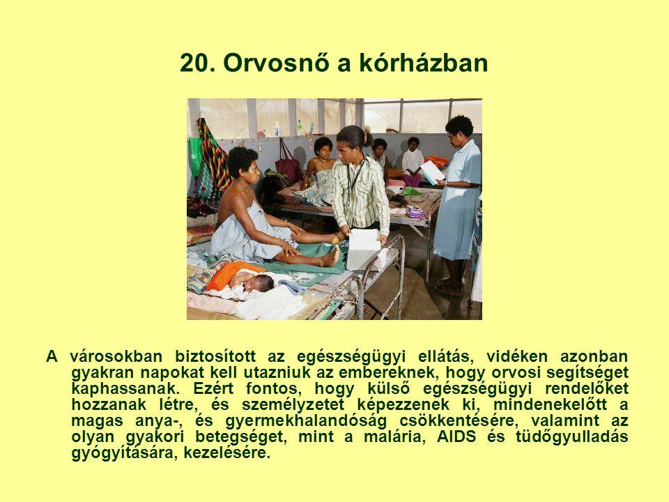 20. Orvosnő a kórházban