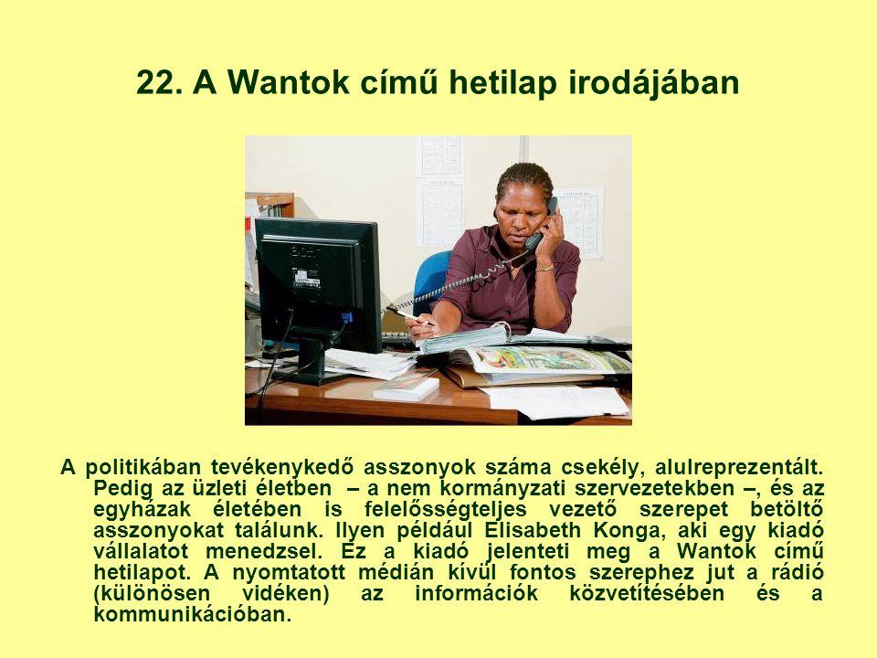 22. A Wantok című hetilap irodájában