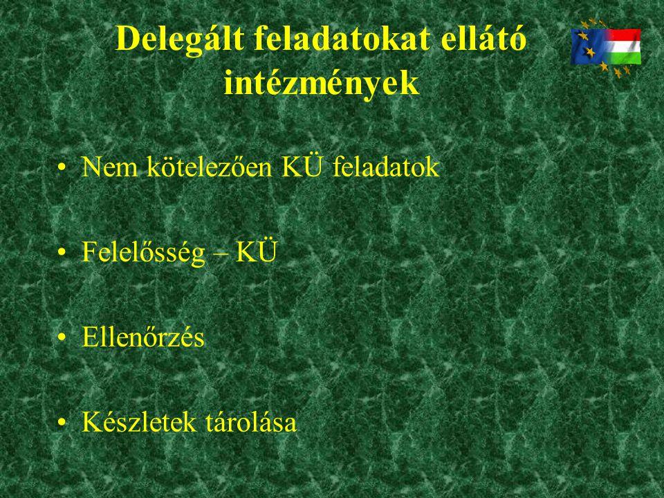 Delegált feladatokat ellátó intézmények
