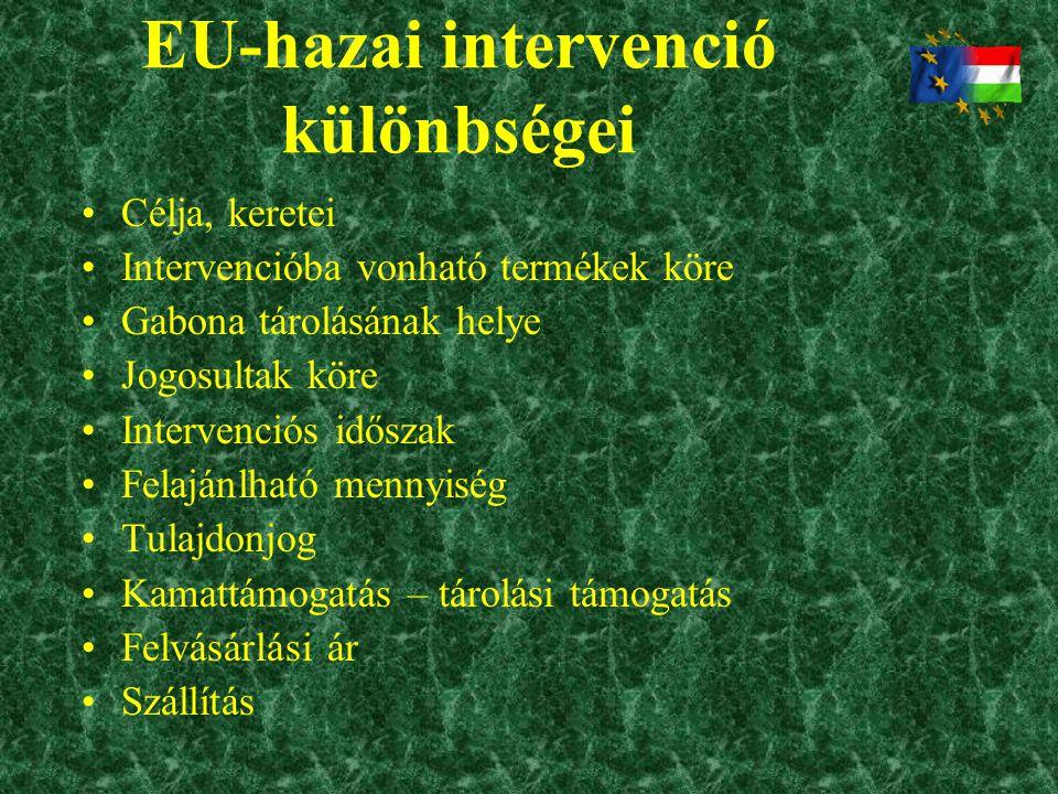 EU-hazai intervenció különbségei