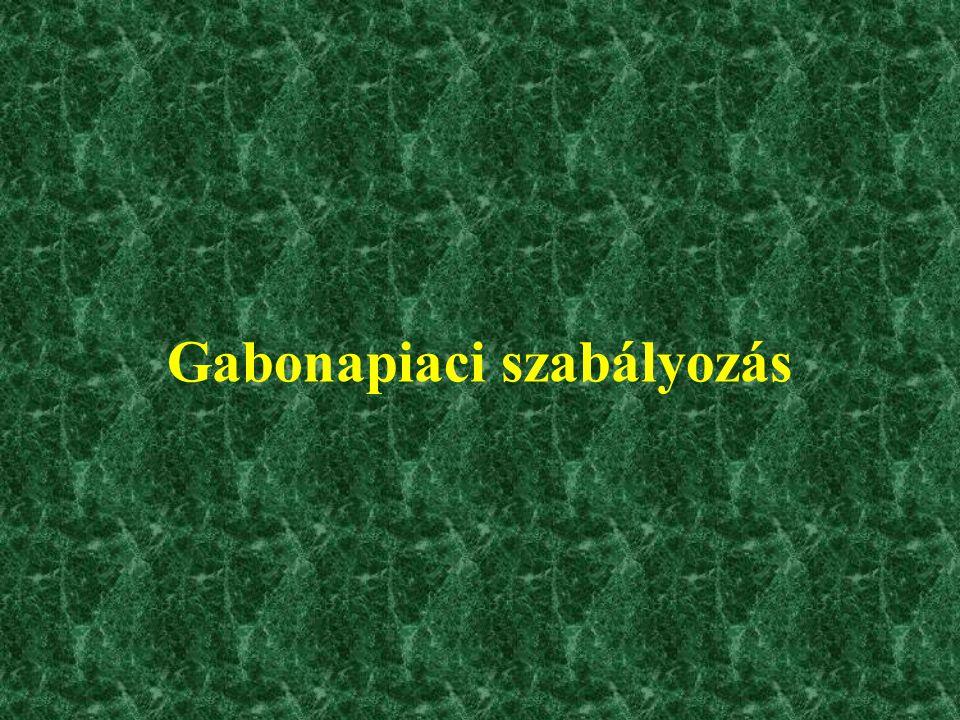 Gabonapiaci szabályozás