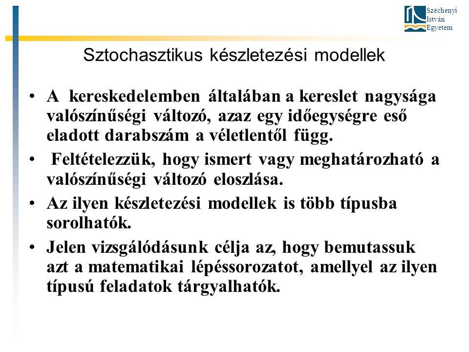 Sztochasztikus készletezési modellek