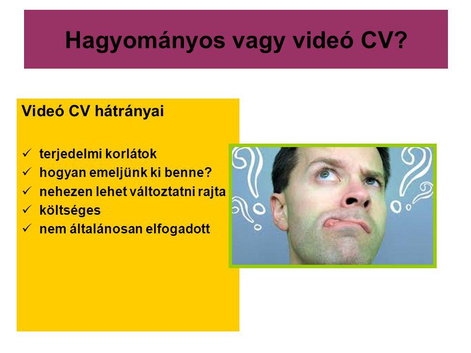 Hagyományos vagy videó CV