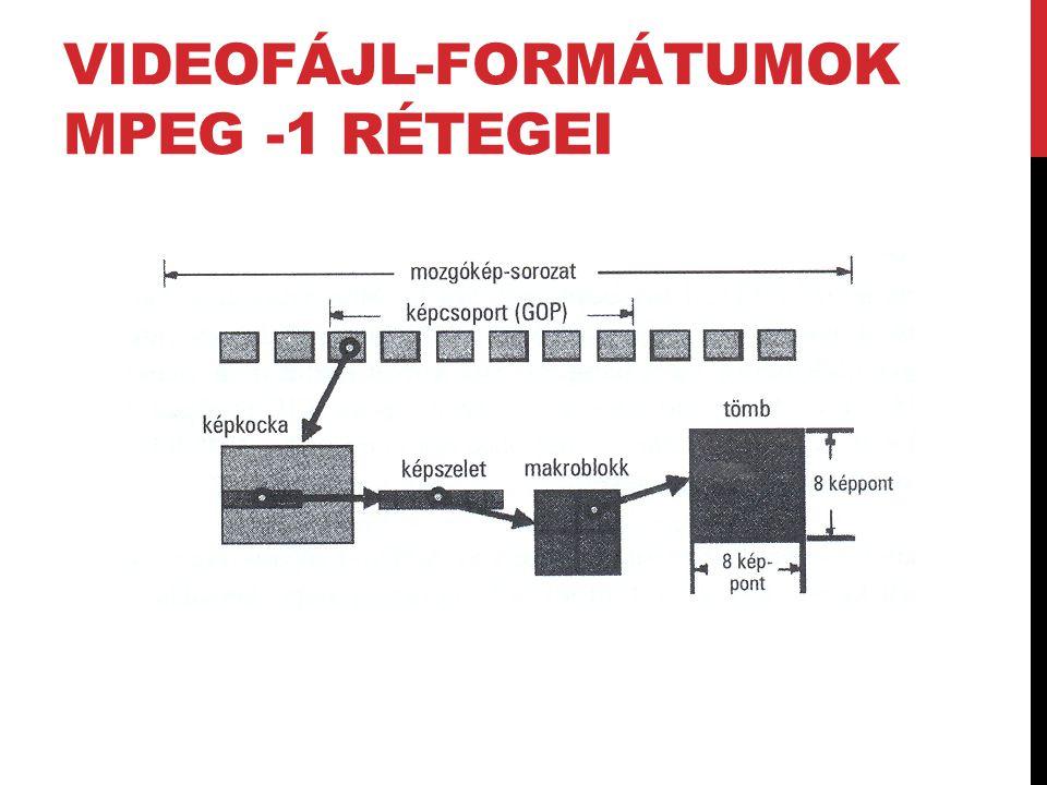 Videofájl-formátumok MPEG -1 rétegei